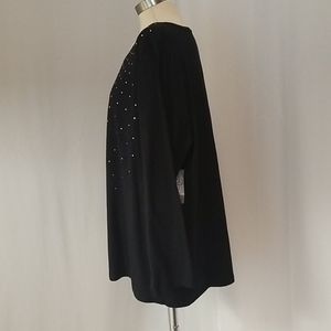 Catherines Tops - Catherine's Embellished Top..Blk..Sz 2x